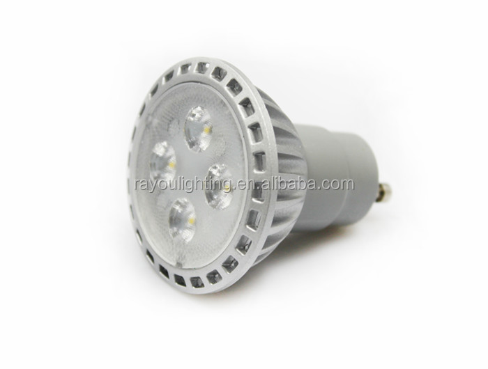 UL listed led gu10 dimmable, die-casting led light gu10, 6w gu10 led bulb for interior