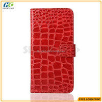 Crocodile pattern credit card slots leather cover case for Samsung galaxy s7 s7 edge