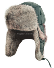 eskimo sequined fabric winter hat with synthetic fur