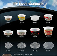 T PP5 T PP 500ml 1100 1500 2000 cc ml salad disposable microwave pp food container