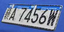 DM 8200 car license plate MERCOSUR