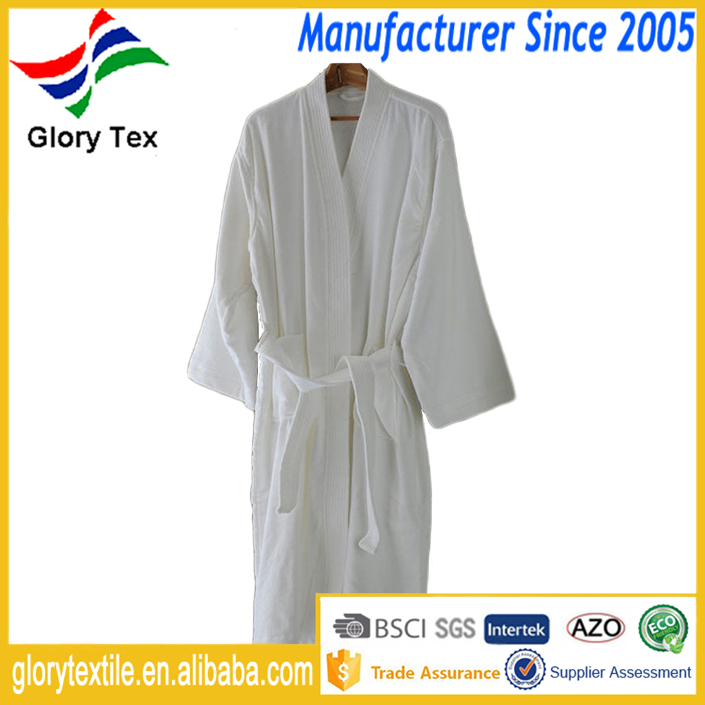 3 Colors Terry Velour 100 Cotton Hotel Bathrobe Men Women Sleep Wear