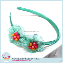 Wholesale kids hair accessories, small fabric flowers lace headbands for babies