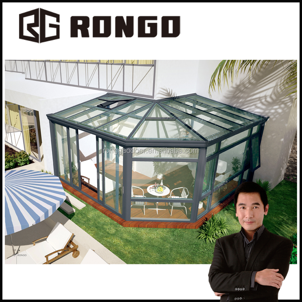 commercial sun house with good quality tempered glass