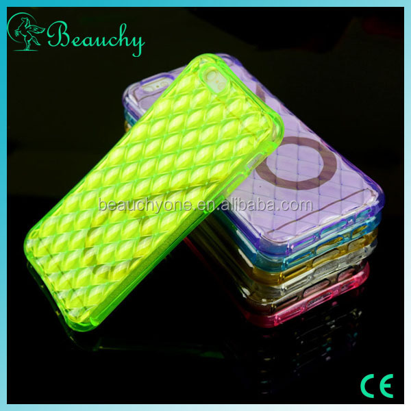 2016 Newest Ultra-thin Colorful clear mobile phone case for iphone5/6/6s/plus TPU cell phone case with Air hockey
