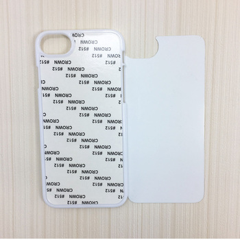 Wholesale customed 2D sublimation blank plastic phone cases for Iphone 7