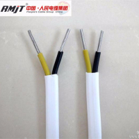 Aluminum conductor PVC insulated and sheathed flat electrical wire