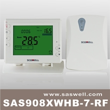 SASWELL Easy Temperature Controller,Green Back light,High Quality IP 21 868MHZ Digital Self Control APP Thermostat