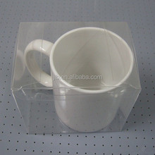 Custom plastic coffee mug wine cup packaging box