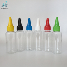 Plastic PET 50ml clear dropper bottles with long tips for e liquid flavorings smoking oils essential oils multi color cap