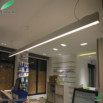 New Design Linkable Led Linear Light Fixture Aluminium Led Recessed Suspended Hanging LED Linear Light
