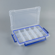 Newest sale three buckle 15 grid organizer storage box