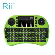 Rii i8+ 2.4GHz Mini Wireless Keyboard with Touchpad Mouse, LED Backlit, Rechargable Li-ion Battery