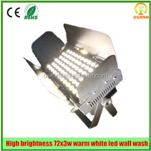 Guangzhou Professional Light Warm white LED 72*3W Wash Light
