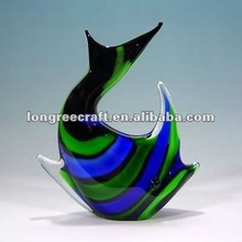 Modern Decor Hand Blown Glass Fish