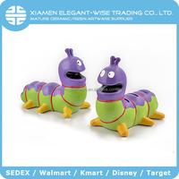 Promotion OEM Cheap ceramic 21 x 12 x 17cm insect shaped coin bank,money box