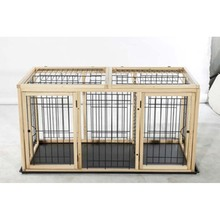 New Design Dog Cage with two Rooms for wholesale Dog Cages