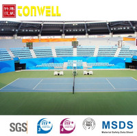 Endurable roller coating SPUA polyurea elastic sport court flooring