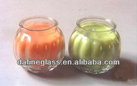 200ml pumpkin shape glass candle holder
