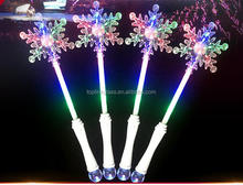 Light-Up Princess Wand Frozen Crystal blinking LED Fairy Magic SnowFlakes Frozen