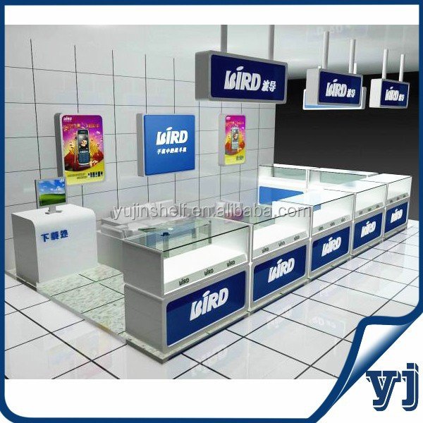 Mobile display showcases mobile phone shop decoration