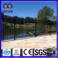 wrought iron sheet metal garden fence panels design/Aluminum and steel fence