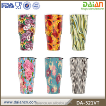 Custom double wall stainless steel powder coated tumbler