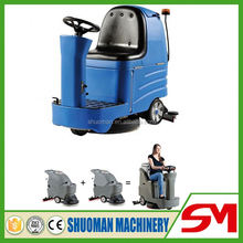 Industrial automatic electric runway sweeper