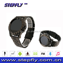 smart watch mobile phone, 1.22 inch round Nano-glass capacitive touch screen bluetooth 3.0 Waterproof ( SF-T2)
