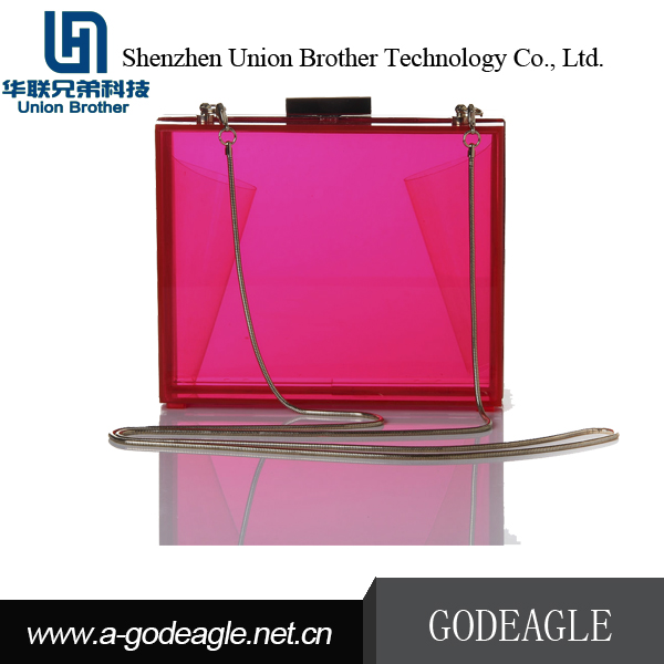 Hot china products wholesale Handmade luxurious beautiful acrylic box clutch