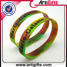 Alibaba china suppliers camouflage silicone wristband
