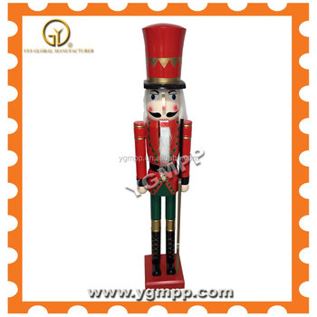 YGM -K05 60'' decorative commercial size red and gold handmade wooden nuctarcker king