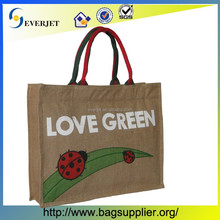 2015 Wholesale Custom Design Tote Jute Bag