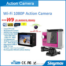 "Hot sales Wireless Action Sports Camera Waterproof 12Mp Max Resolution 2"" Screen 1080P Full HD"