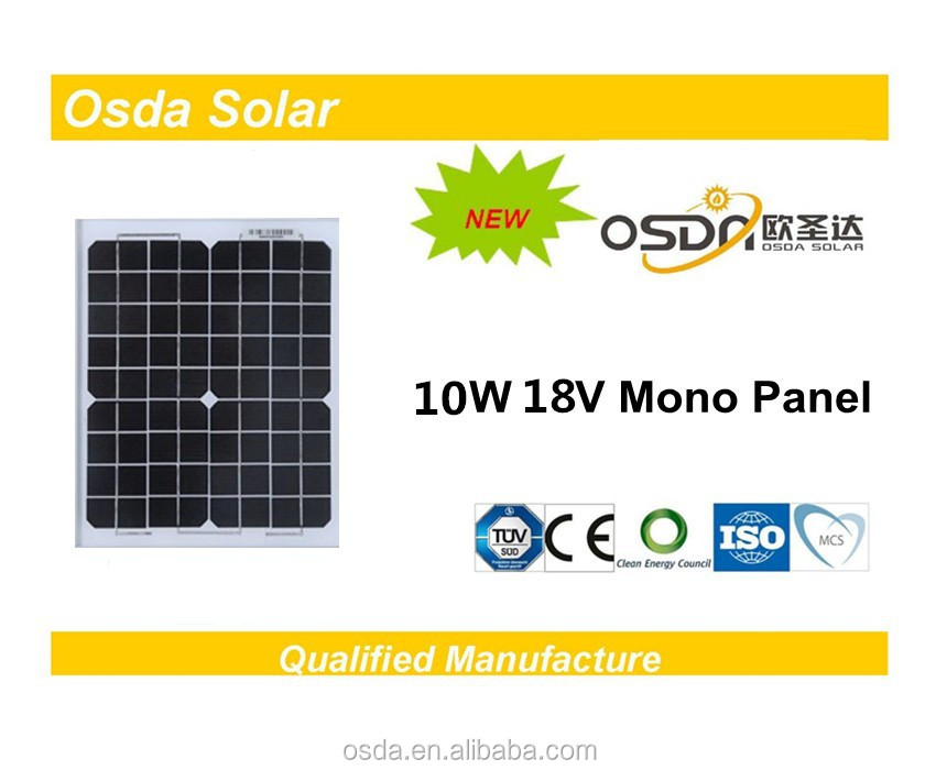 Photovoltaic 10W Mono Osda Solar Panel price per watt solar panels