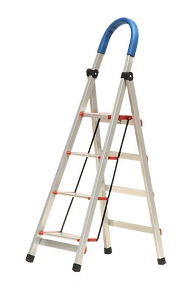Aluminum three section extension ladder.,aluminum pipe ladder,narrow step ladder