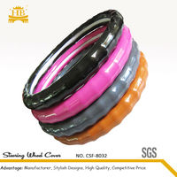 PU material durable and soft covers for decorate the steering wheel