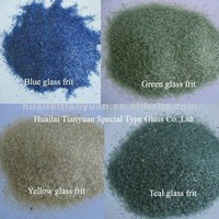 COE 3.3 colored and clear borosilicate glass frit colored glass pieces for crafts