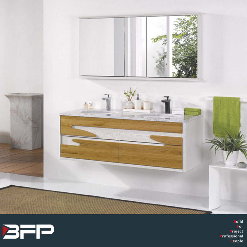 Hot sale Chinese modern solid wood bathroom vanity with low price