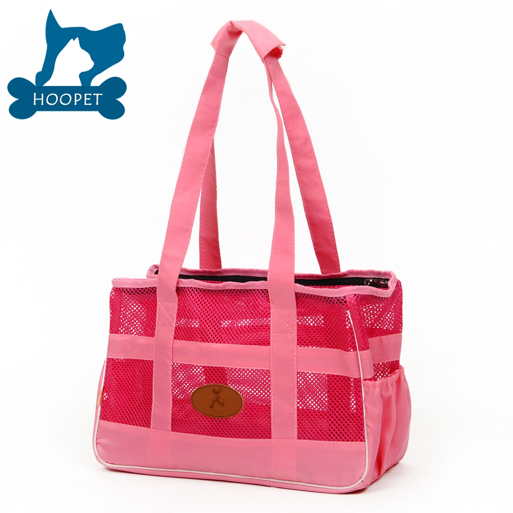 Pet carrier for small pet designer pink mesh toy pet carrier