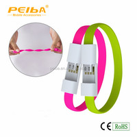 Cell phone accessories rubber multi micro bracelet usb data cable for iPhone