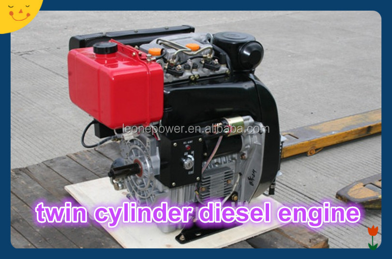 Air-cooled twin cylinder diesel engine 20 hp