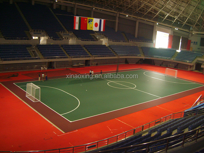 SUGE Indoor Interlocking Futsal Court Flooring Made By Virgin Polypropylene