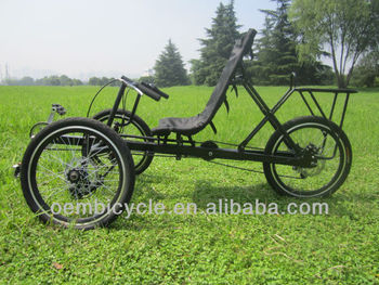 20 inch 3 wheels 6 speed recumbent leisure adult tricycles bike from China