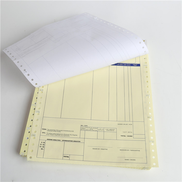 Multi ply 55gsm continuous computer bill printer paper