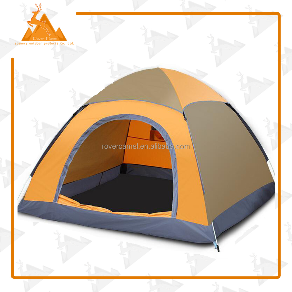 Outdoor Portable Single Layer Waterproof Camping Tent 2 Person Polyester Beach Tents