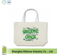 Custom logo printed promotion cotton shopping tote bag