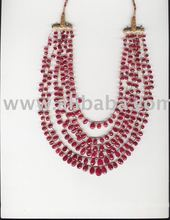 Ruby faceted almond shape
