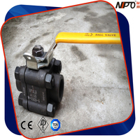 Forged Steel 3-pcs SW/BW/NPT Threaded Ball Valve