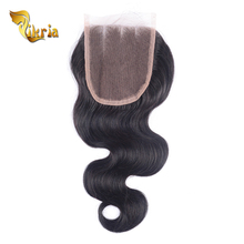 Grade 7A brazilian hair with lace closure,4x4 lace closure with bundles